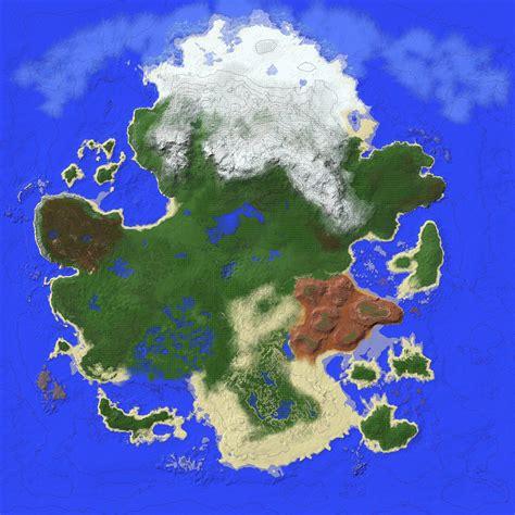 Creating a Survival Pangea [WorldPaint] : Minecraft