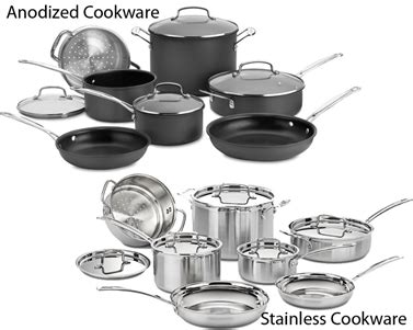 cookware     stainless steel  hard anodized