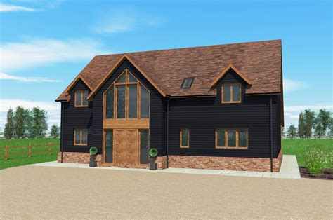 Traditional A Frame Home With Contemporary Style by Malthouse Barn Timber Frame Barn Design Scandia Hus