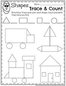 worksheets  pre  shapes schematic  wiring diagram