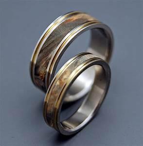 titanium wooden wedding rings mens rings womens rings With womens wooden wedding rings