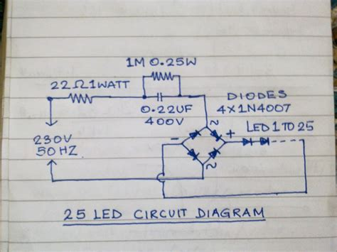T8 Wiring Diagram Free Picture Schematic by Mains Operated 25nos Led L 7 Steps With Pictures
