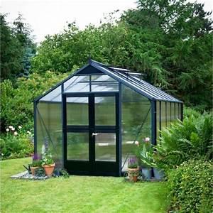 Serre De Jardin Polycarbonate : serre de jardin 8 8m anthracite en polycarb 10mm premium ~ Dailycaller-alerts.com Idées de Décoration