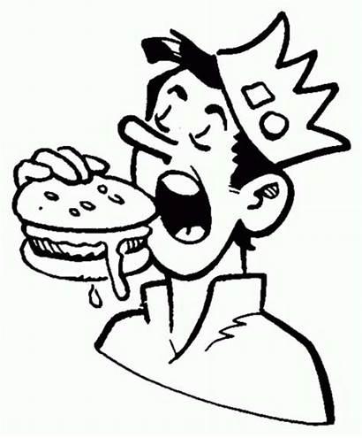 Coloring Archie Pages Jughead Eating Hamburger Comics