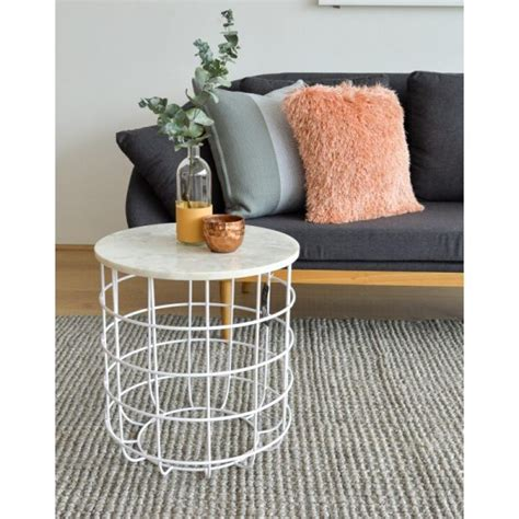 wire basket coffee table  piece