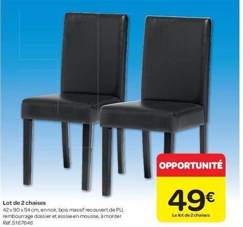 chaises carrefour carrefour promotion lot de 2 chaises produit maison