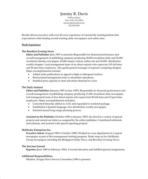 How To Set Up A Resume For An Internship by Managing Editor Free Resume Sles Blue Sky Resumes