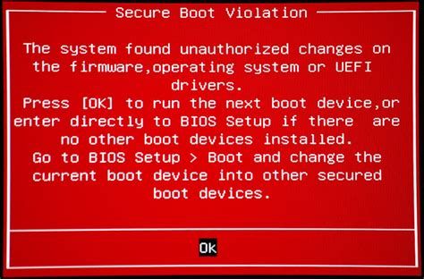 windows  system giving   secure boot violation error message stone computers