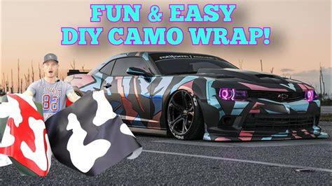 easy fun diy camo wrap youtube