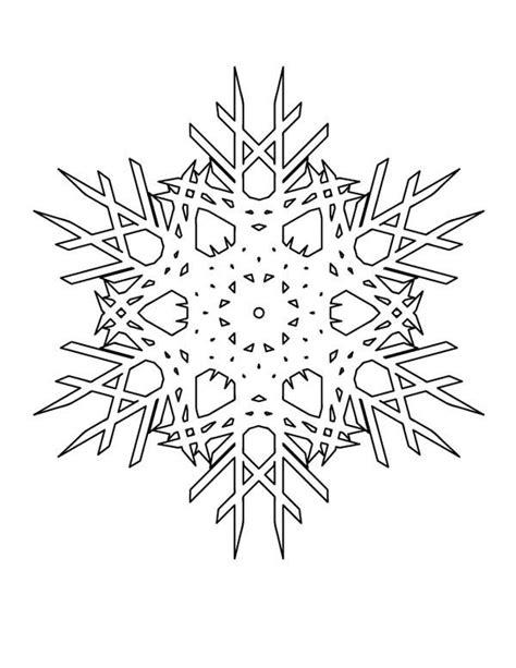 christmas christmas snowflakes cristals coloring page