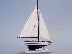 "Pacific Sailer 17"" - White Sails - Wooden Sailboat ..."