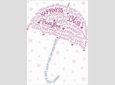 Type Umbrella A*Press Bridal Shower Card by Avanti Press
