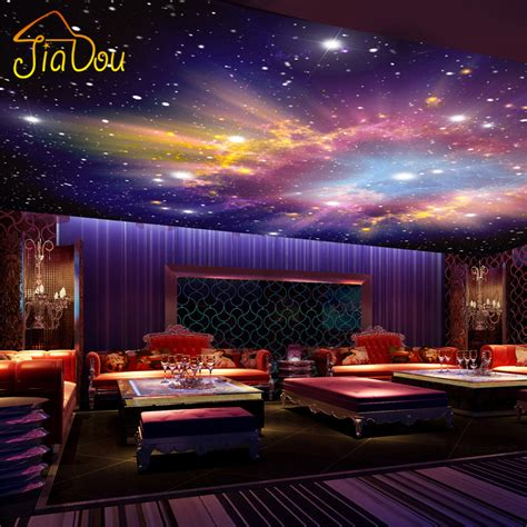Painting Stars On Ceiling by Custom Murals 3d Star Nebula Night Sky Wall Painting