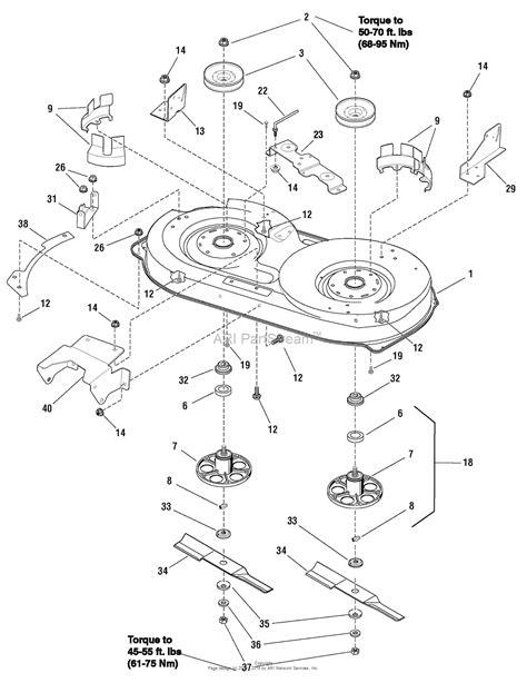 murray mower deck diagram murray 7800484 eyk125380f 12 5hp 38 quot gear 2009 parts