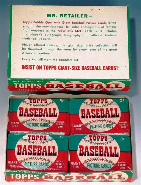 Collecting Vintage Baseball Cards The Giant Size 1952