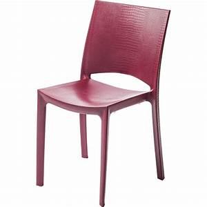 Chaise De Jardin En Resine : chaise de jardin en r sine cocco rouge leroy merlin ~ Farleysfitness.com Idées de Décoration