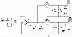 Pcb Layout For Positive Voltage Regulator Using 7805 And 7812