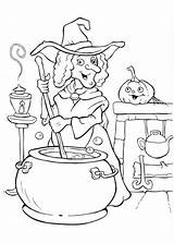 Coloring Halloween Pages Witch Potion Cooking Witches Colouring Making Funschool Glinda Procoloring Printable Tekeningen Gratis Painting Happy Netart Days Templates sketch template