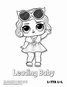 Leading Baby Lol Surprise Doll Coloring Page