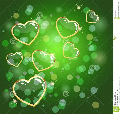 green heart background royalty  stock image image