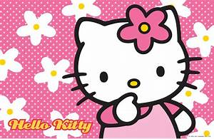 Hello Kitty Wallpaper with Floral Pink Background   HD ...