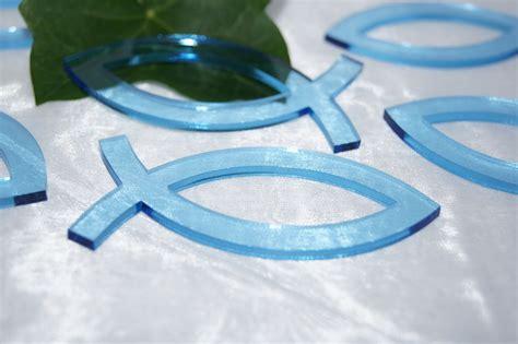 serviettenring fisch blau tischdeko kommunion