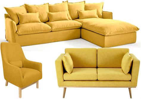 canap fauteuil 20 fauteuils et canapés jaunes pour le salon joli place