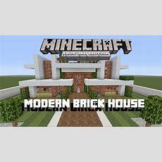 Minecraft Xbox 360  How To Build A Modern Brick House