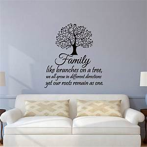 family wall decal quotes family like like branches on a With inspiring family tree decal for wall