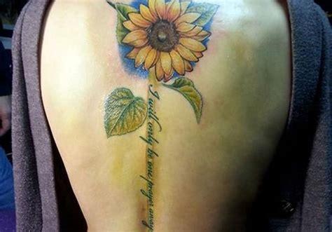 cool sunflower tattoo designs  images  women