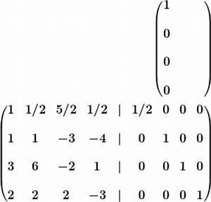 Inverse Berechnen Matrix : inverse einer 4x4 matrix via gau jordan ~ Themetempest.com Abrechnung