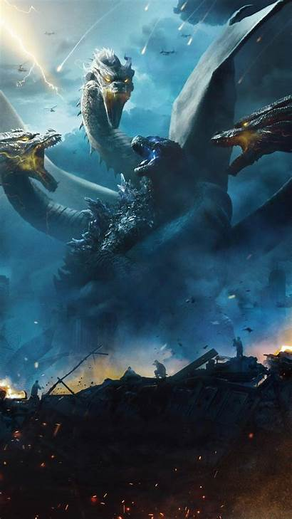 Godzilla Ghidorah King Monsters 4k Wallpapers 1080