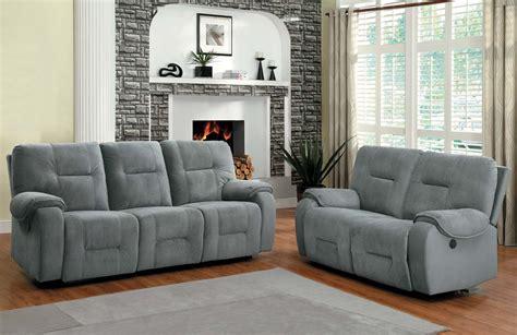 gray reclining sofa and loveseat grey sofa recliner thesofa