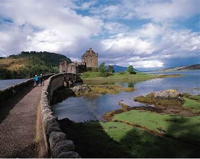 Scotland Highlands Castle Desktop Castles Eilean Donan