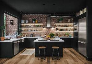 29, Beautiful, Black, Kitchen, Cabinet, Ideas, To, Try, In, 2021