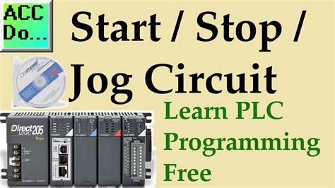 learn plc programming   start stop jog