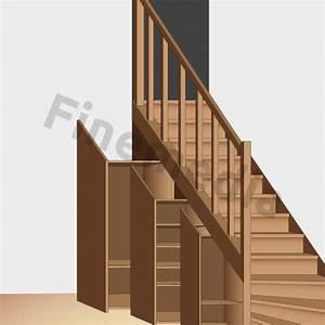 Placard Escalier : placard rangement astuce et solution pour le rangement de placard ~ Carolinahurricanesstore.com Idées de Décoration