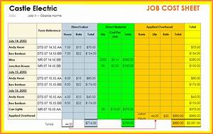 Expense Report Spreadsheet Template 9 Construction Job Costing Spreadsheet Excel