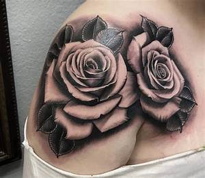 Black And Grey Rose Tattoos - Tattoo Collections