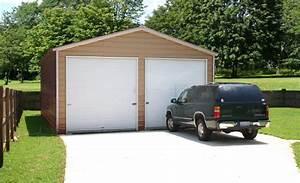 prefab steel garages metal buildings and garage buildings With 2 5 car garage kits