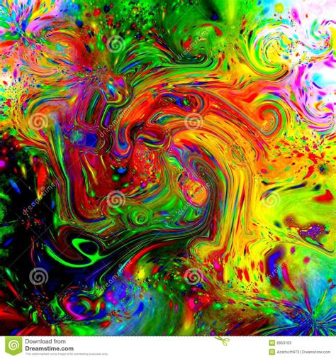 Psychedelic Fluid Tile stock illustration. Image of