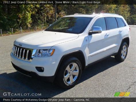 beige jeep grand stone white 2012 jeep grand cherokee limited 4x4 black