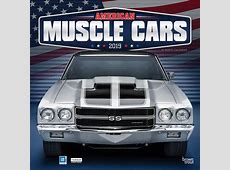 American Muscle Cars 2019 12 x 12 Inch Monthly Square Wall