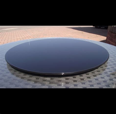 large outdoor garden black glass lazy susan for dining