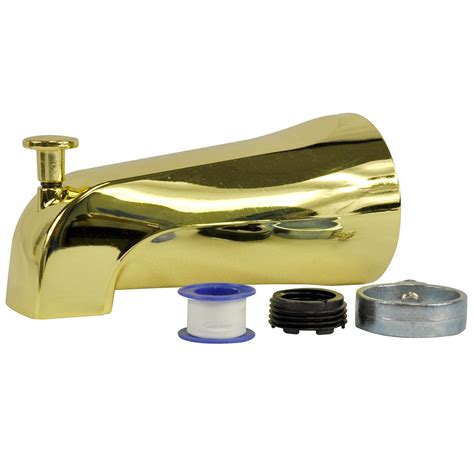polished brass tub spout danco universal tub spout with diverter in polished brass