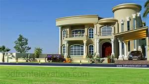 Moderne Design Villa : 3d front beautiful modern villa design 2015 3d front elevation ~ Sanjose-hotels-ca.com Haus und Dekorationen