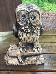 Owl, Chainsaw, Carving, Wood, Carving, Cute, Sculpture, Wood, Gift