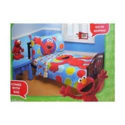 sesame street elmo 4 piece toddler bed set new ebay