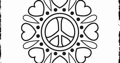 Peace Coloring Sign Pages Heart Printable Getcolorings