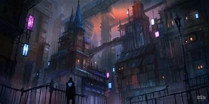 Cyberpunk Mood 5k Wallpapers Evening Dher 4k